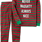 Carter's 2-Pc. Never Naughty Striped Cotton Pajama Set, Toddler Boys (2T-5T)