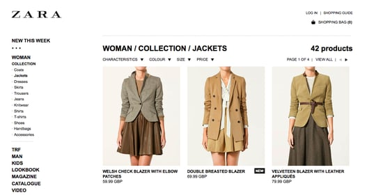 Shop Zara Online for European and UK Customers