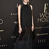 Hunter Schafer's Pink Hair and Makeup at the Elle Event