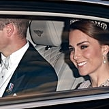 Kate Middleton's State Banquet Dress Has Sleeves Like Whoa and a Lot of Lace