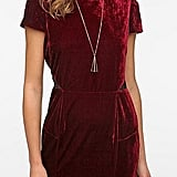 We love the dark red hue on this Sparkle & Fade Velvet Puff Sleeve Dress ($69) — holiday drinks, anyone?