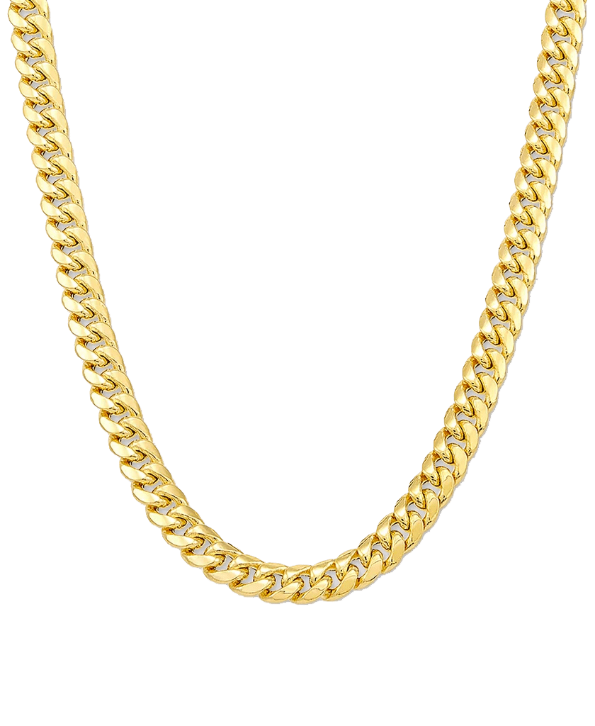 Italian Gold Men's Miami Cuban Link 22