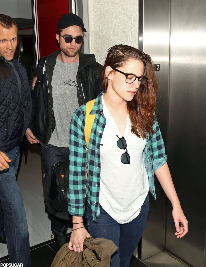 Robert Pattinson and Kristen Stewart took off from NYC's JFK airport and arrived at LAX last night. Rob and Kristen spent the weekend in the Big Apple after a short, and well-deserved, getaway to the UK. While on the East Coast, the pair reportedly grabbed drinks with friends at Greenwich Village hot spot Babbo.  The couple had plenty to celebrate over the holiday with Breaking Dawn Part 2 raking in another $64 million in theaters. The final installment in the Twilight franchise beat out newcomers Rise of the Guardians and Life of Pi, taking home the No. 1 spot at the box office for the second consecutive week and thus far earning more than $577 million in worldwide ticket sales.