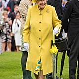 "On why she wears bright colors on royal appearances: ""If I wore beige, nobody would know who I am.""  When opening an exhibition of artist Lucian Freud's nude paintings, the Queen told her aide she had been very careful to make sure ""I was not photographed between a pair of those great thighs.""  During that same trip, a curator asked the queen if she had ever been painted by Lucian Freud. She smiled and said, ""Yes, but not like that.""  At an investiture ceremony, a member of the queen's staff dropped the cushion holding the medals. ""Just put them back any way you can. I'll give them anything and you can sort it out afterwards,"" she said."