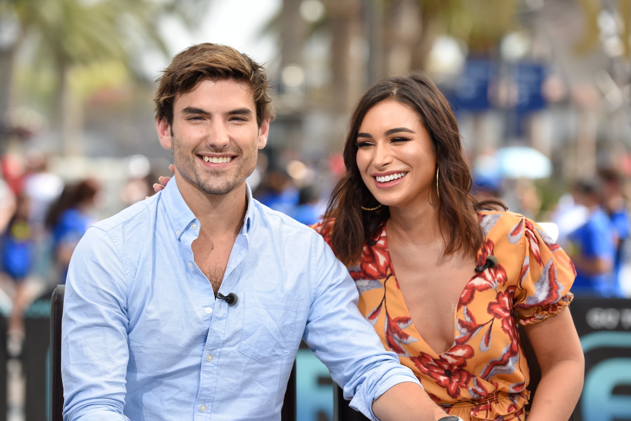 UNIVERSAL CITY, CA - JULY 11:  Jared Haibon (L) and Ashley Iaconetti visit