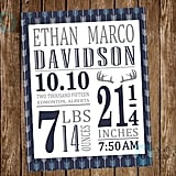 Birth Stat Birth Announcement Sign