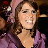 Princess Eugenie embrace flapper fashion in this stunning Stephen Jones hat.