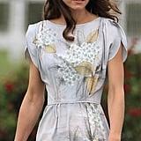 Kate Middleton in silver Jenny Packham dress.