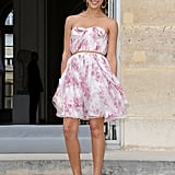 Jessica Alba in girly Christian Dior.