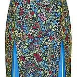 Recycling is so June. July is all about upcycling! For Topshop's second Reclaim to Wear collection, the brand is giving new life to disregarded prints from seasons' past, and with this multicolored split skirt ($90), what's old is new again. — KS