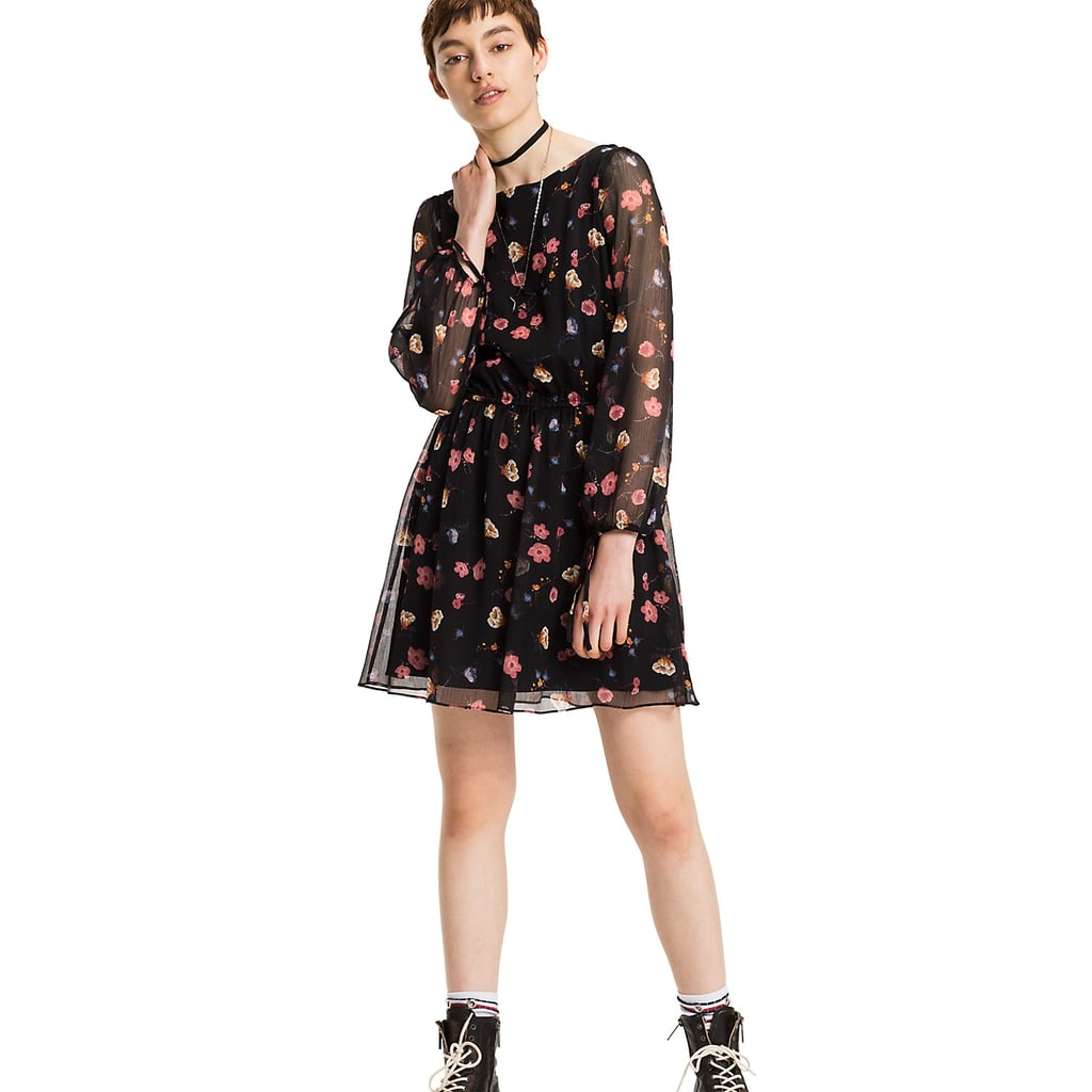 Tommy Hilfiger Long-Sleeve Floral Dress