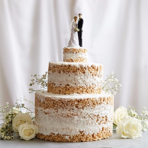 Wedding Cake Decoration Ideas: No-Bake Rice Krispies Wedding Cake Recipe