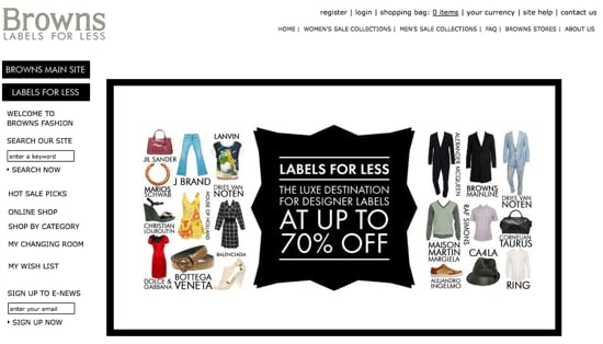 The Outnet's Got Some Competition — Browns Labels for Less