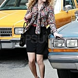 AnnaSophia Robb, who will play Carrie Bradshaw in The Carrie Diaries, looked the part while on set in NYC.