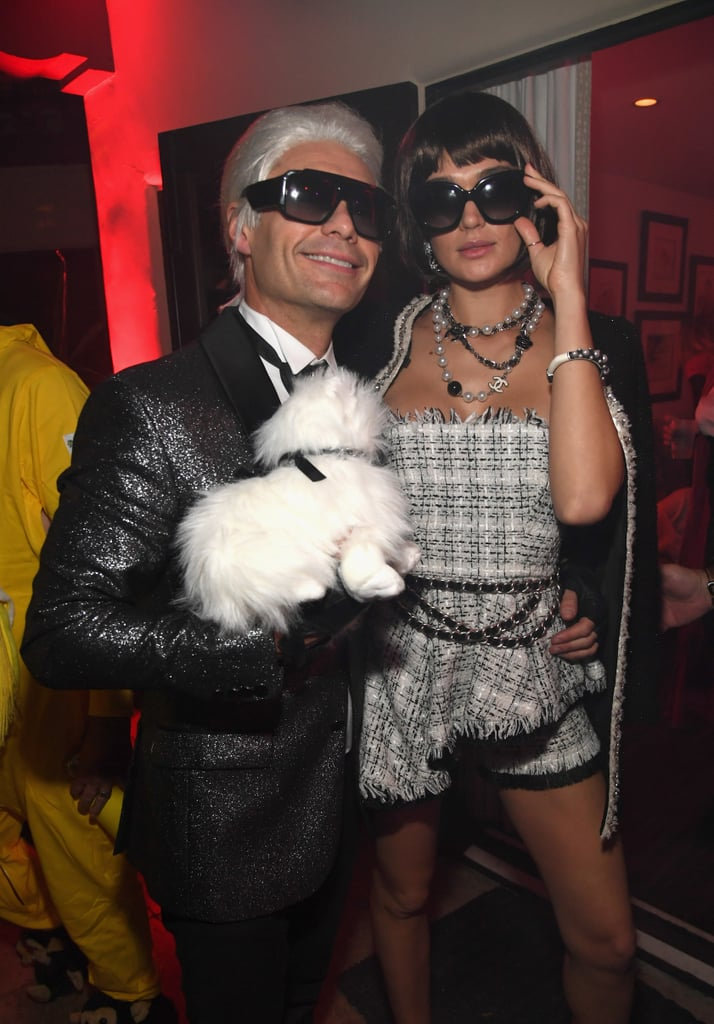 Ryan Seacrest and Shayna Taylor as Karl Lagerfeld and Anna Wintour