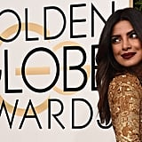 Priyanka Chopra's Makeup and Hair at the 2017 Golden Globes