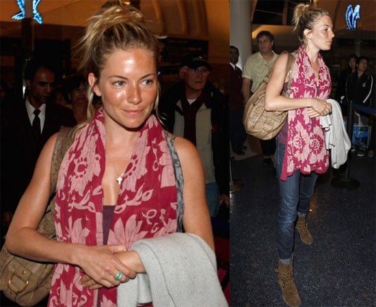 Sienna Arrives at LAX