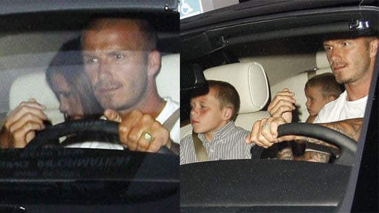 Photos of the Beckham Family In Their Car