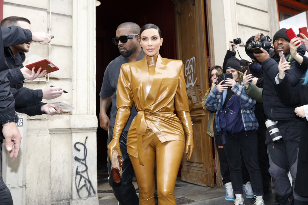 Kim Kardashian's Balmain Latex Looks at Paris Fashion Week