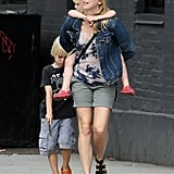 Naomi Watts hung out with her boys Sasha and Kai on a walk in NYC.