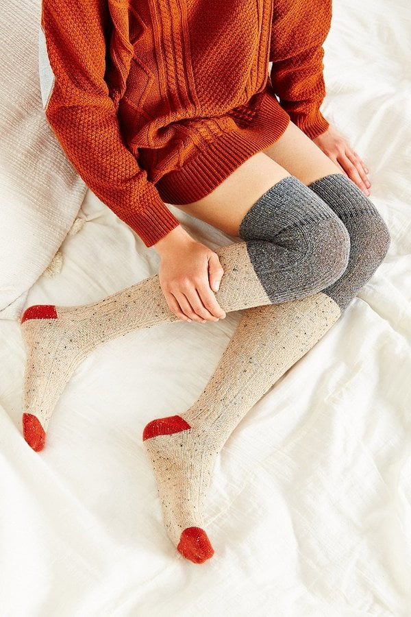 Winter Fair Isle Over-the-Knee Sock ($16) | How to Wear Over-the ...