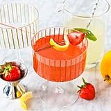 Strawberry Watermelon Mimosa With Basil Lemonade