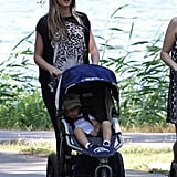 Gisele Bundchen took Benjamin to the park.