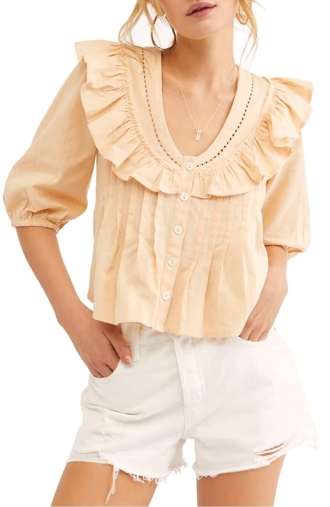 Endless Summer by Free People Sylvia Cotton Ruffle Blouse