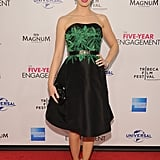 Emily Blunt posed on the red carpet at the premiere of The Five-Year Engagement during the 2012 Tribeca Film Festival.