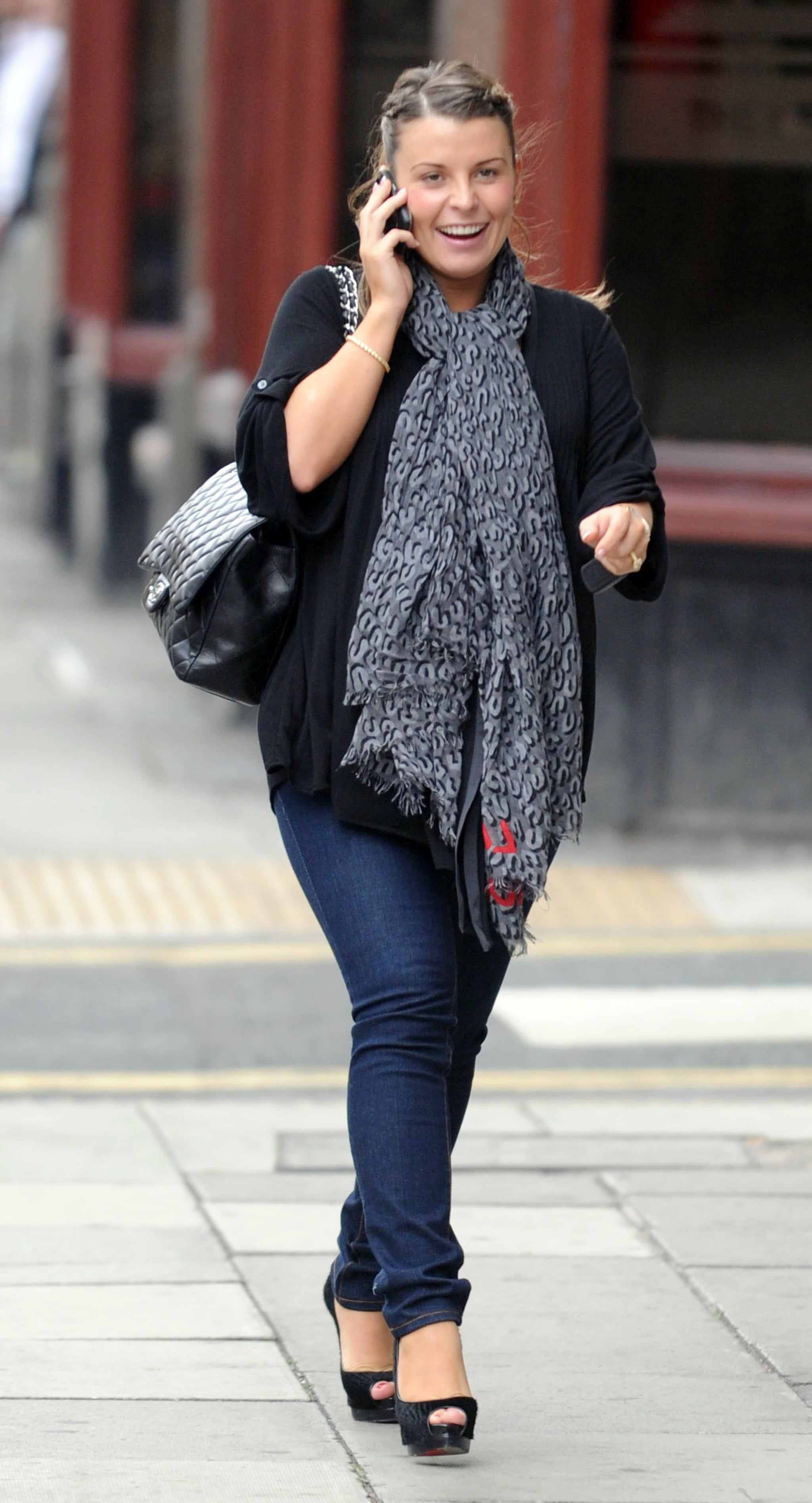Photos of Heavily Pregnant Coleen Rooney Out in Liverpool ...