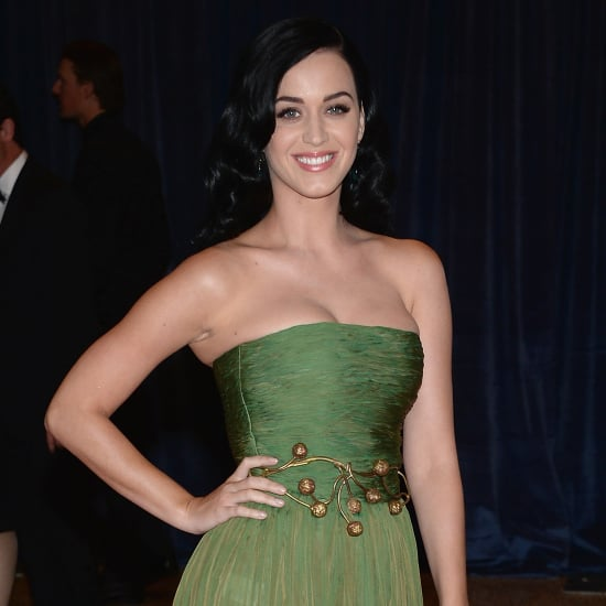 Katy Perry Olive Green Giambattista Valli Dress; White House