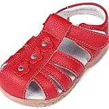 Femizee Girls' Genuine Leather Soft Closed-Toe Princess Flat