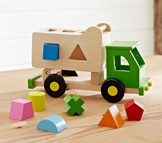 For 1 Year Olds: Pottery Barn Kids Sort N Tip Truck