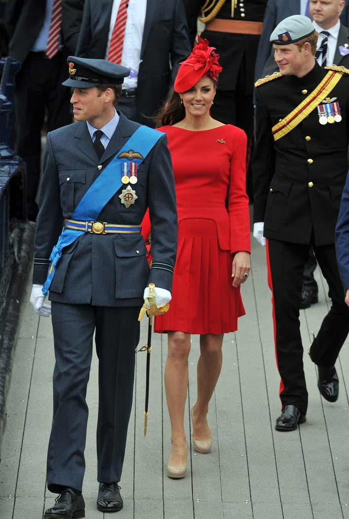 Kate Middleton wore red McQueen for the Diamond Jubilee pageant, and accompanied Princes William and Harry at other events honoring their grandmother Queen Elizabeth.