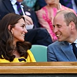 July: Kate and Will had the look of love at the Wimbledon Tennis Championships.