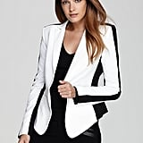 I'm definitely hopping on the black-and-white train, and I refuse to leave home without taking this BCBG Max Azria colorblocked blazer ($228) with me. It's going to sharpen everything from my little black dresses to my favorite denim to my faux-leather pants.  — Melody Nazarian, celebrity style editor