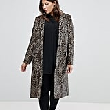 Helene Berman Plus Leopard Print College Coat