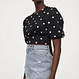 H&M Balloon-sleeved Top