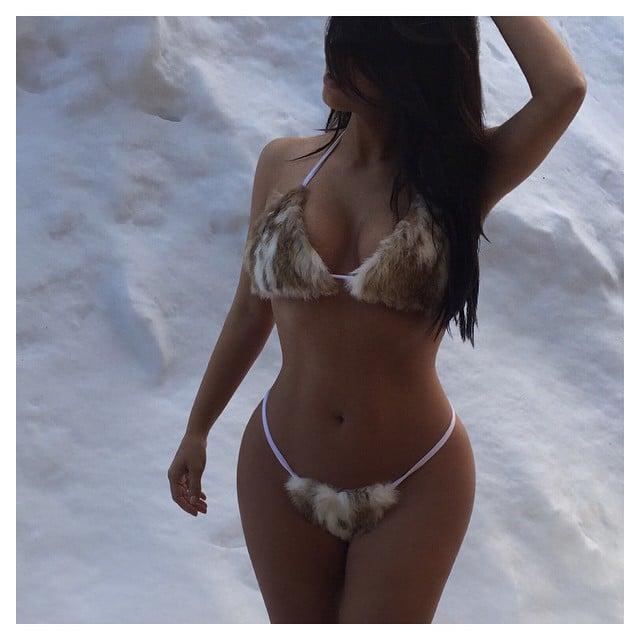 "Kim Kardashian Is Trying to Make ""Fur-Kinis"" a Thing"
