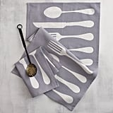 Printed towels can be a bit taste-specific, but this flatware dishtowel ($28) is simple enough to make a splendid housewarming gift!