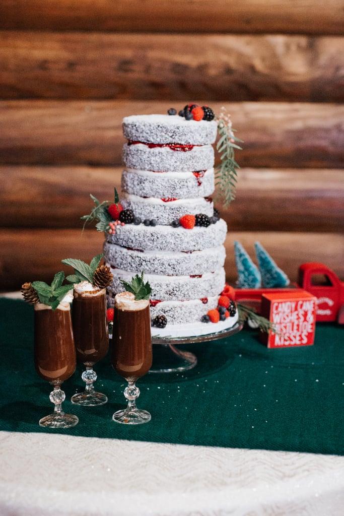 Powdered-Sugar Cake With Berries