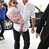 Matthew McConaughey Leaves LA With Family Pictures