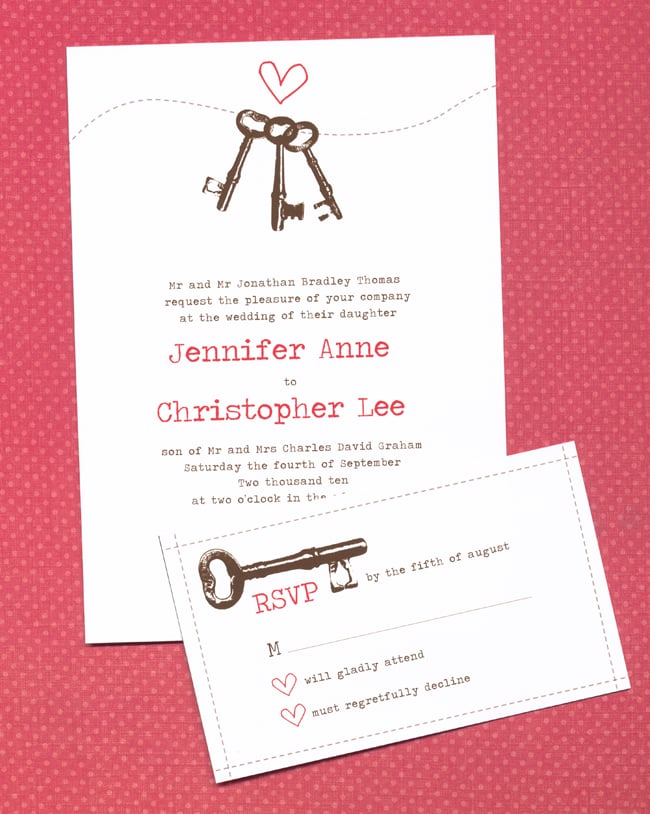 keys to your heart wedding invitation free printable wedding
