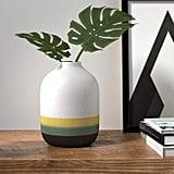 Rivet Westline Modern Indoor Outdoor Hand-Painted Stoneware Flower Vase