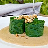 Soused Spinach With Walnut-Lemon Puree