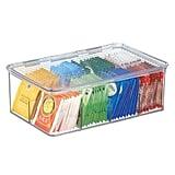 mDesign Tea Bag Box Holder Organizer