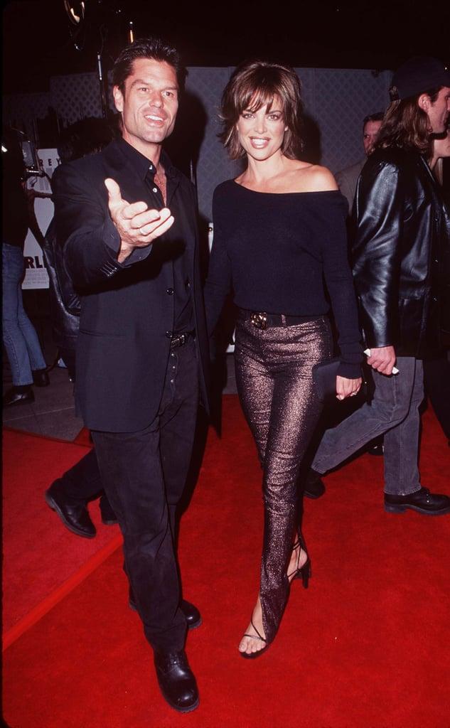 Harry Hamlin and Lisa Rinna in 1997