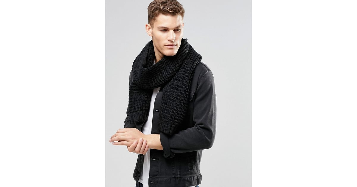 f430ab19e ASOS Knitted Scarf in Black | Best Fashion Accessories Gifts For Men |  POPSUGAR Fashion UK Photo 28