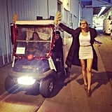 Eliza Coupe messed around on the set of Happy Endings. Source: Instagram user elizamuthafuckincoupe