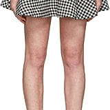 Miu Miu Black and White Gingham Check Skirt